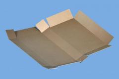 Custom cardboard box folded open