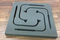 Grey custom foam insert