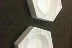 Custom foam inserts in hexagonal shapes