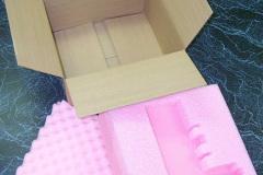Custom pink foam insert with box