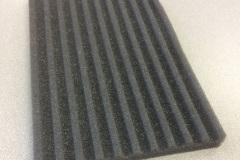 Custom ridged grey foam insert