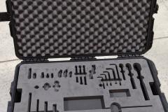 Plastic SKB case with foam insert for tools