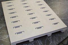 Custom reusable plastic tray
